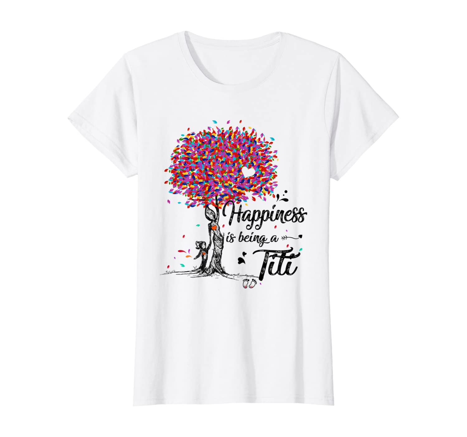 Happiness Is Being A Titi Tshirt Cute Aunt Gifts T-shirt