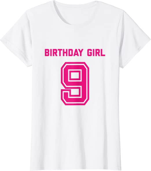 I Can/'t I/'m Only 9-9th Birthday Gift T-Shirt For 9 Year Old Boys /& Girls