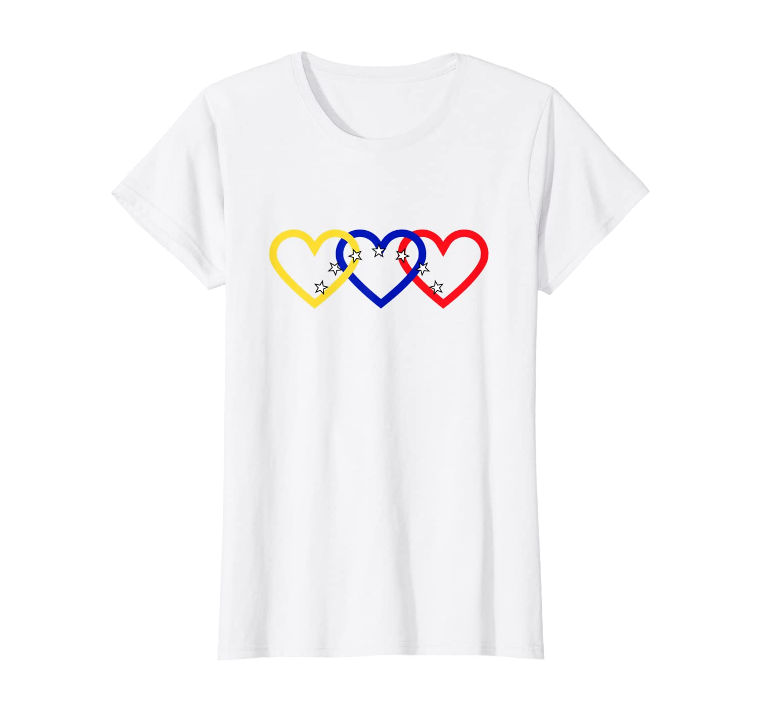 Amazon.com: Venezuela Te Amo Tricolor Corazon 7 Estrellas ...