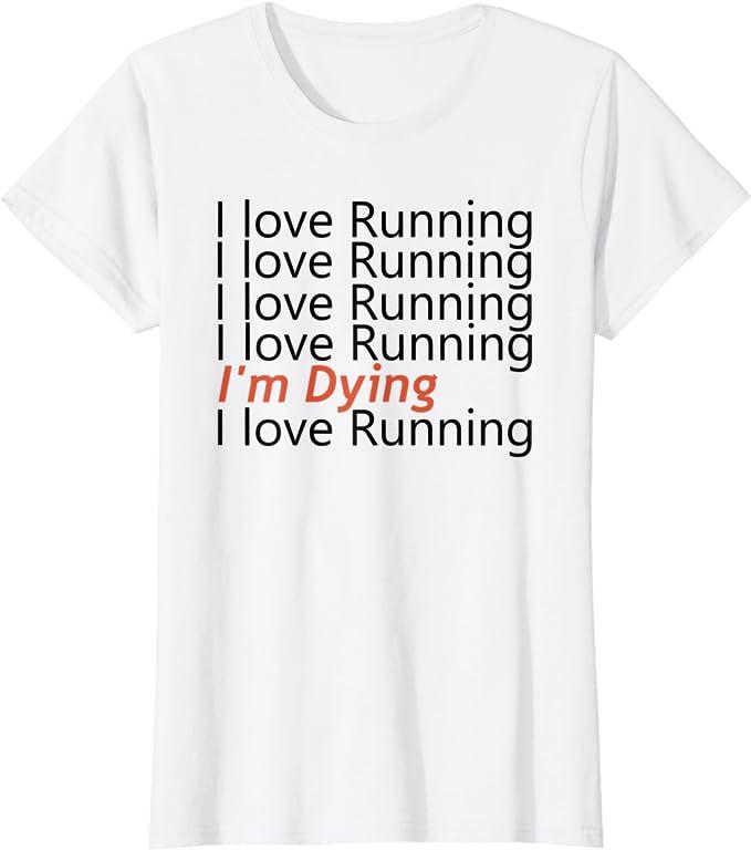 I LOVE TO RUN Women/'s Tee
