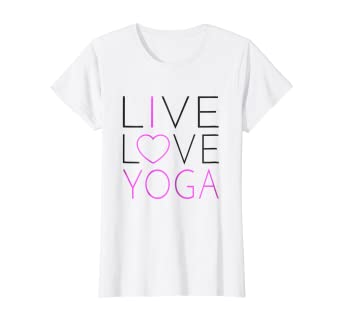 Amazon.com: Womens Live Love Yoga Shirt - I Love Yoga T ...