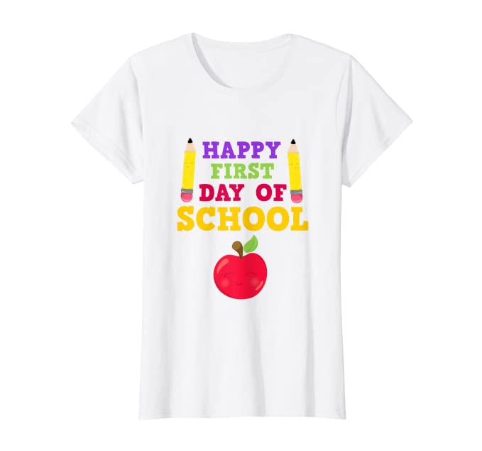 Amazon.com: Happy Primer Día De Colegio playera para Niños y ...