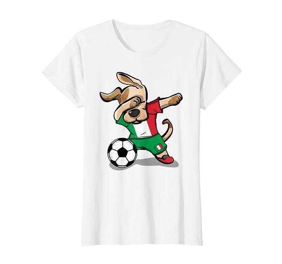 Amazon.com: Perro punzonar fútbol Italia playera Fútbol de ...