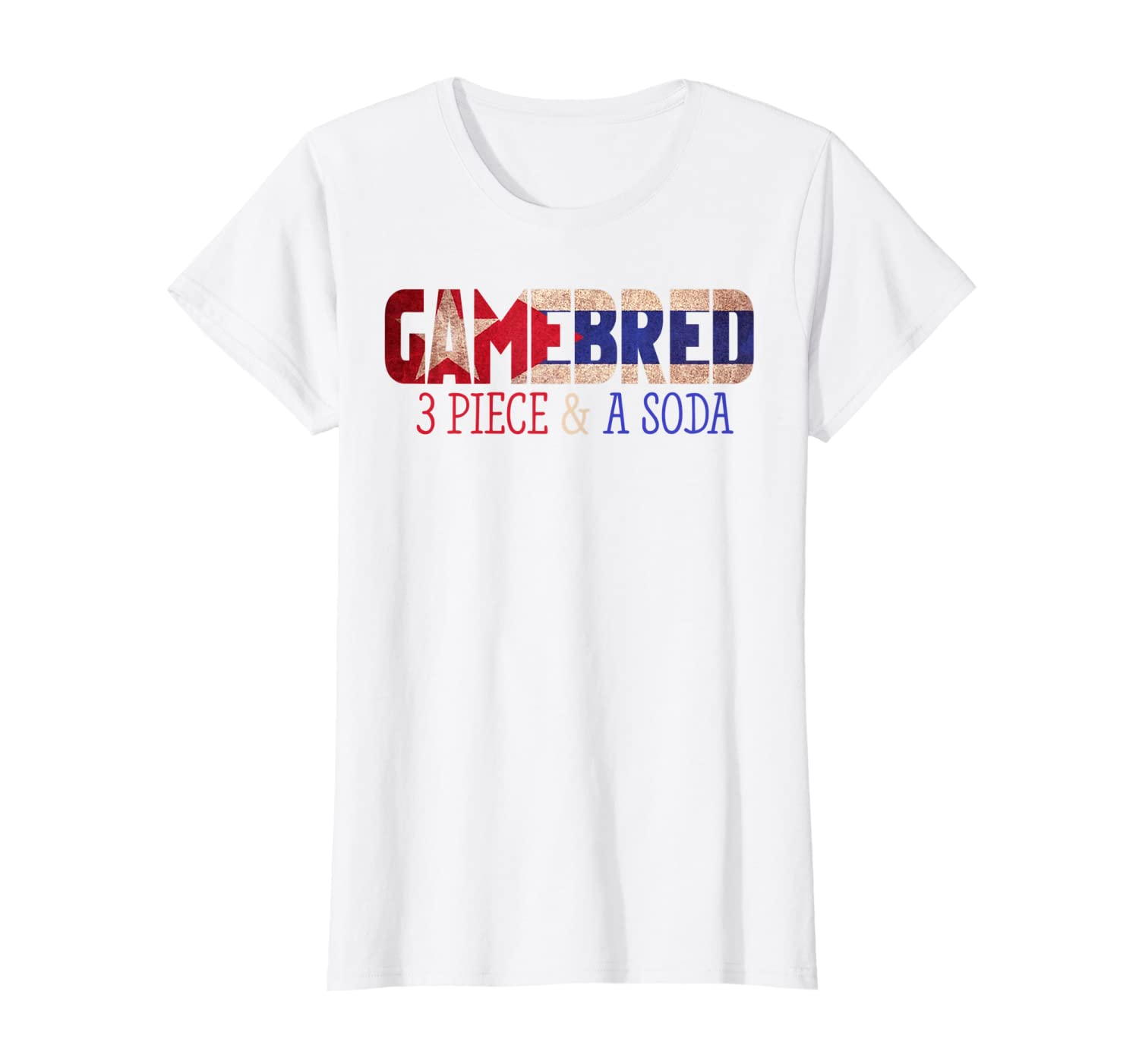 3 Piece and a Soda Gamebred MMA Fighter Quote Slogan T Shirt T-Shirt