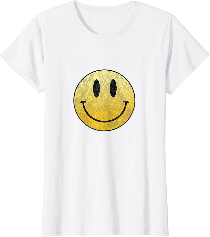 VTG 80s Hippie Space Alien Smiley Face White Graphic Shirt Single Stitch Size Medium