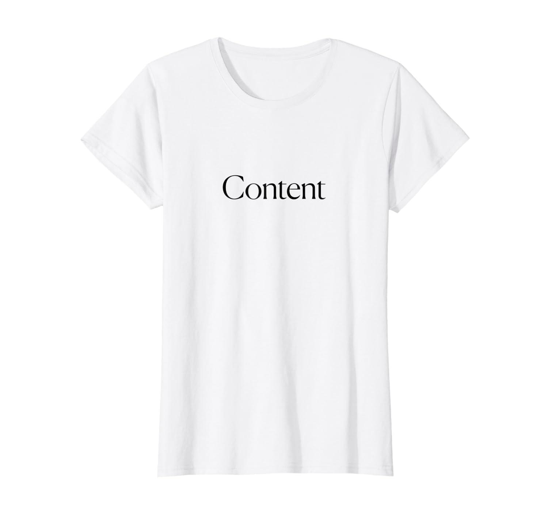 3b90730f Amazon.com: The Cut - Content Tee: Clothing