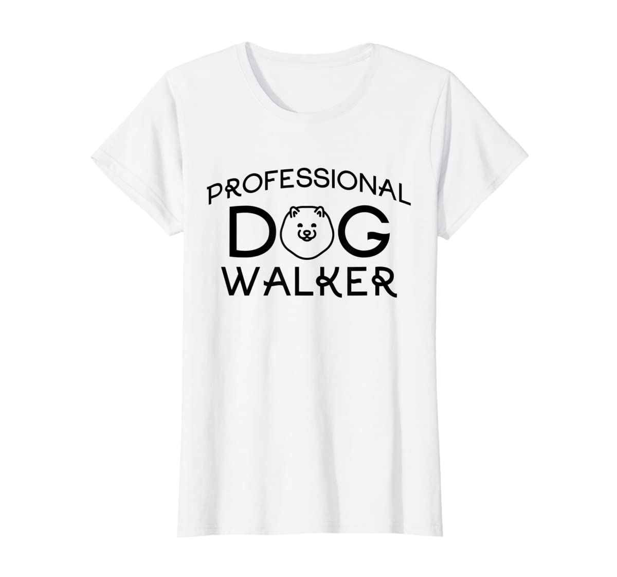 Professional Dog Walker Cute Puppy Tshirt Pet Lover T-Shirt-Women's T-Shirt-White