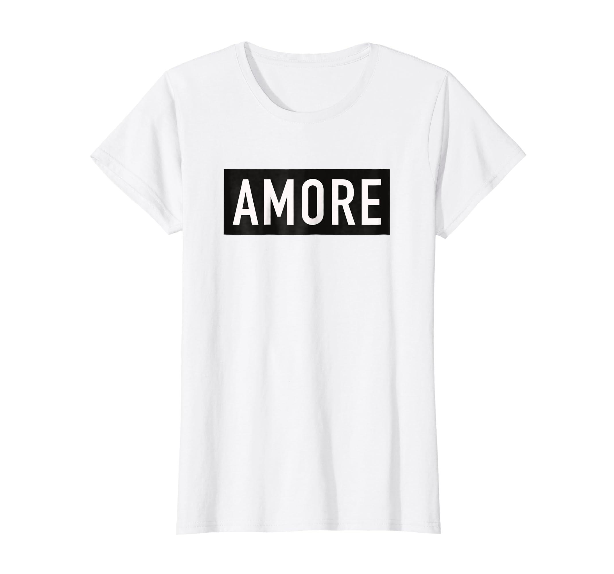 Designer Graphic Tee Shirts | Amazon Com Womens Love Amore Designer Graphic T Shirt Italian
