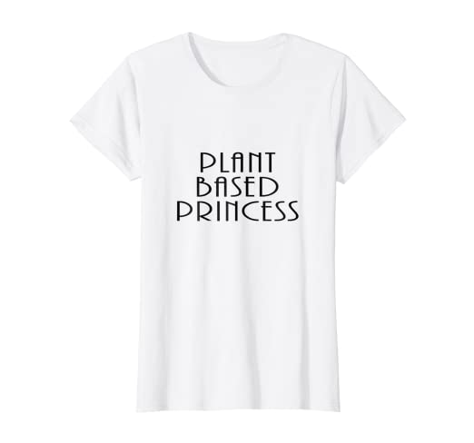 4c0872a0e Image Unavailable. Image not available for. Color: Womens Plant Based  Princess Slogan T-Shirt