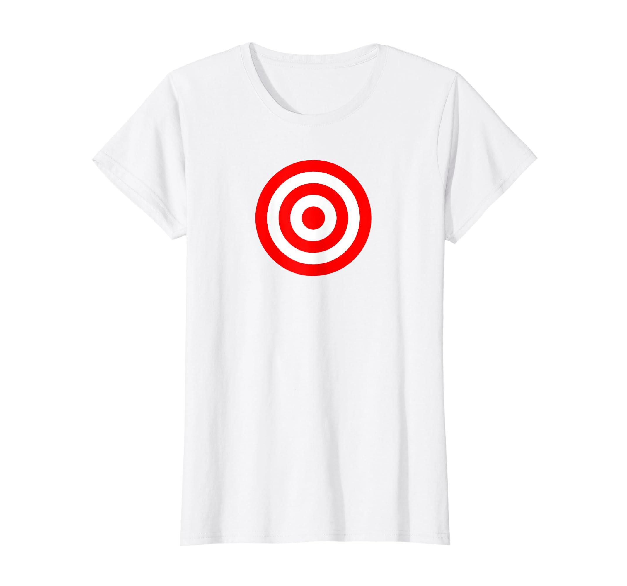 c266dc933d Amazon.com: Bullseye Red & White Shooting Rings Target Funny Tee Shirt:  Clothing