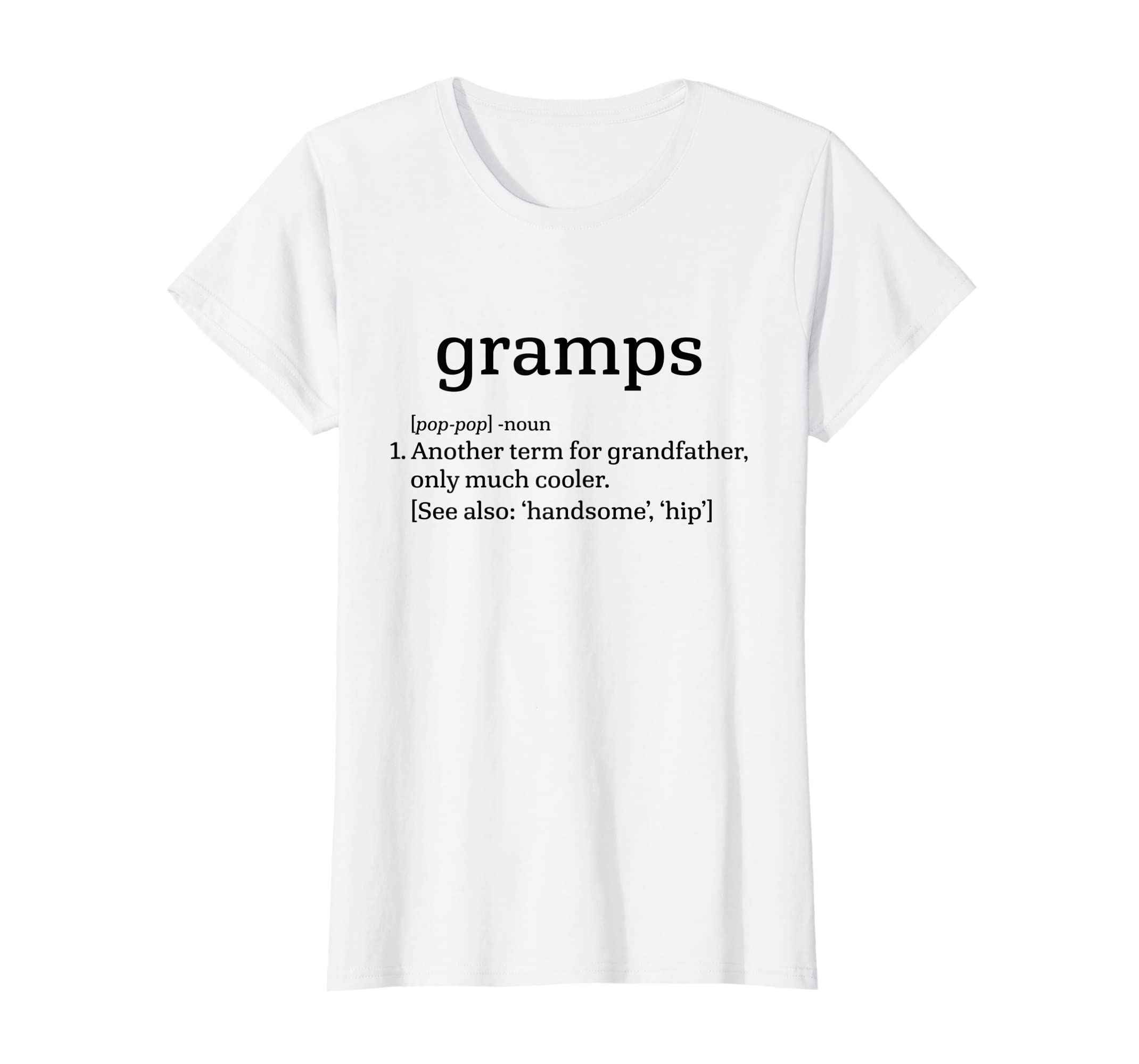 222fff37 Gramps Grandfather - Cool Definition Funny Grandpa T-Shirt at Amazon Men's  Clothing store: