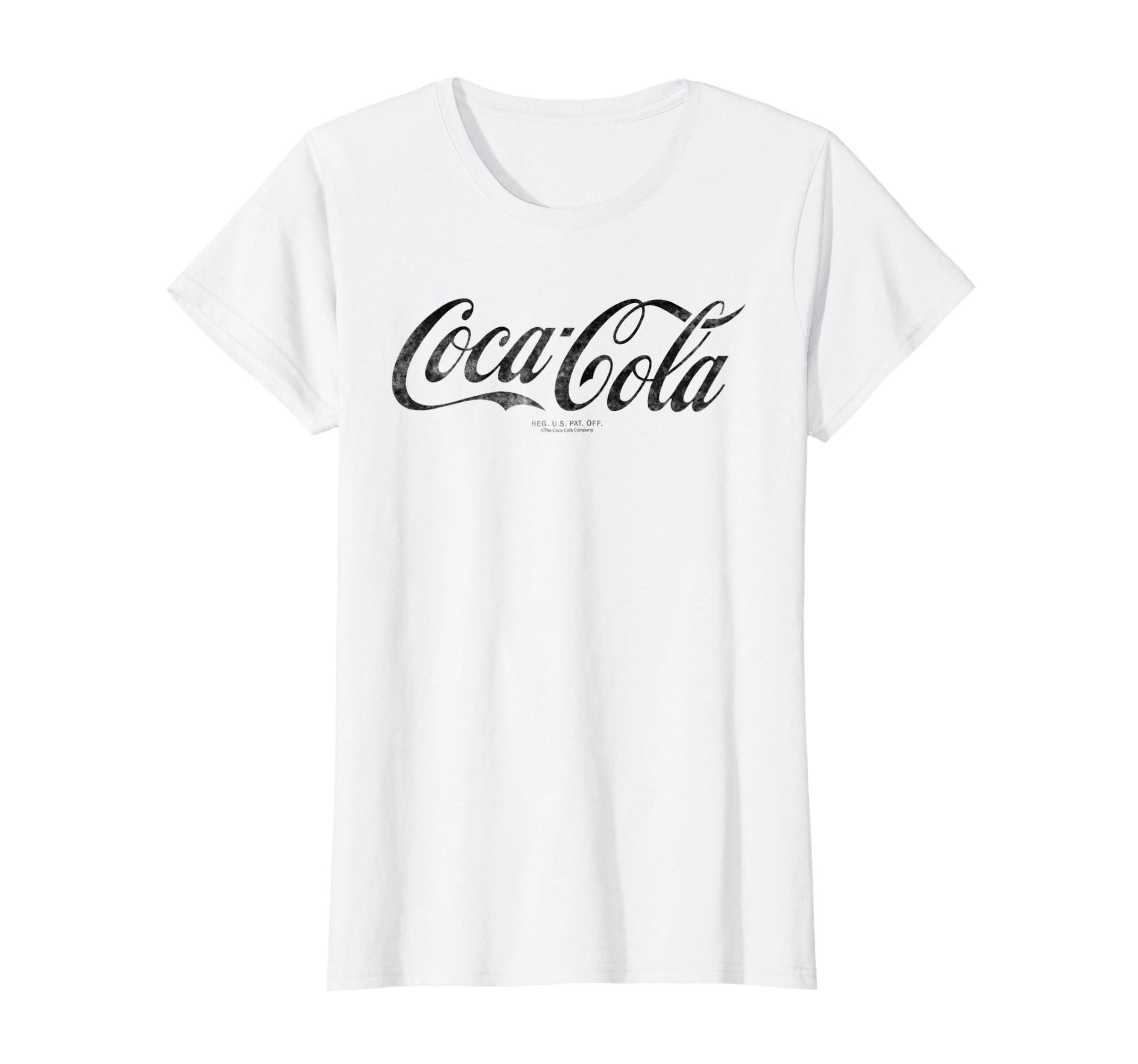 004ac544 Amazon.com: Coca-Cola Vintage Black Logo Graphic T-Shirt: Clothing