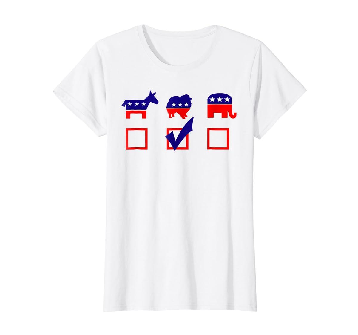 Vote Pomeranian For President T-shirt Cool Dog Lover Shirt-Women's T-Shirt-White