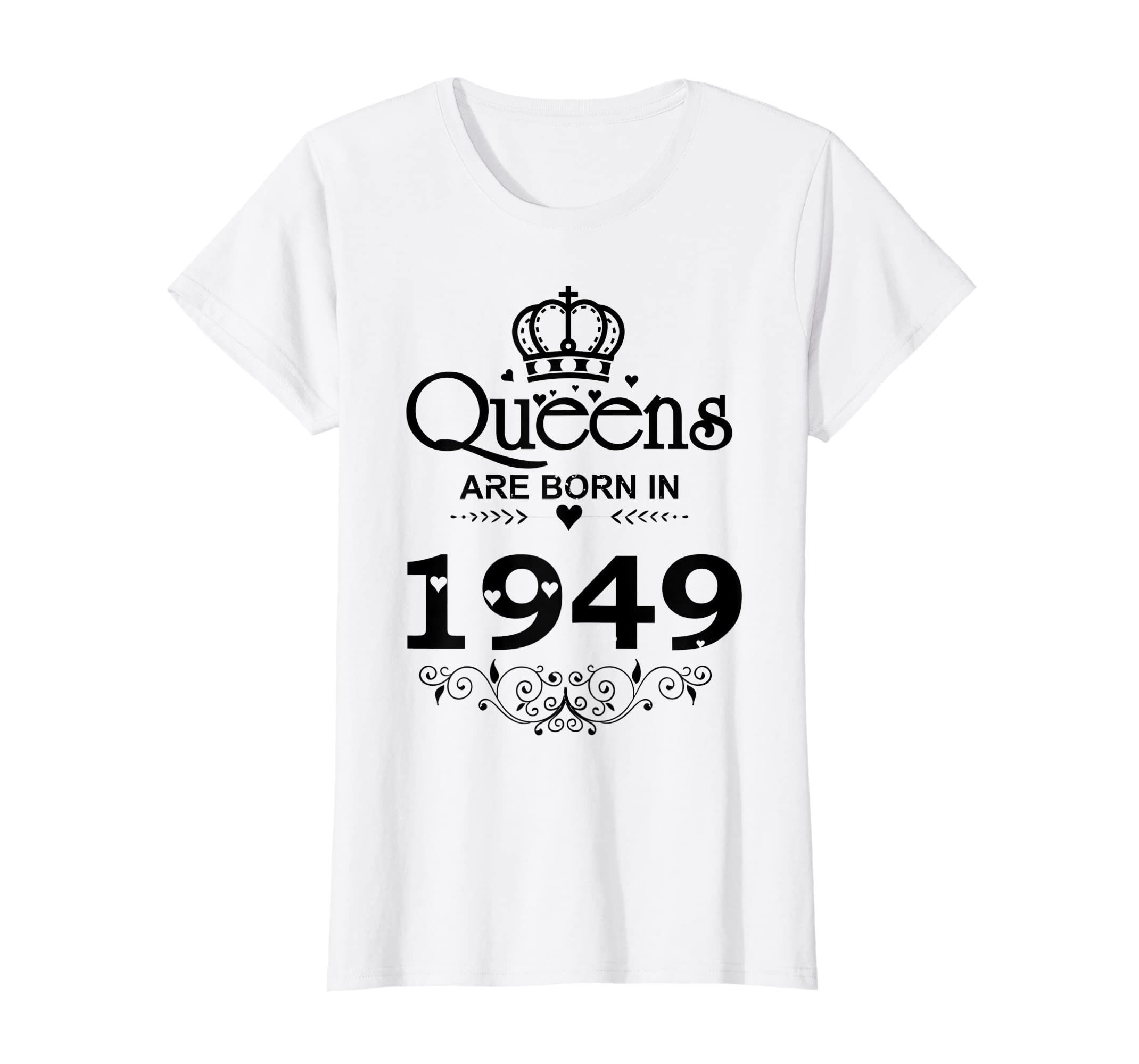 Amazon Womens Vintage Queens Are Born In 1949 T Shirt 70th Birthday Gifts Clothing