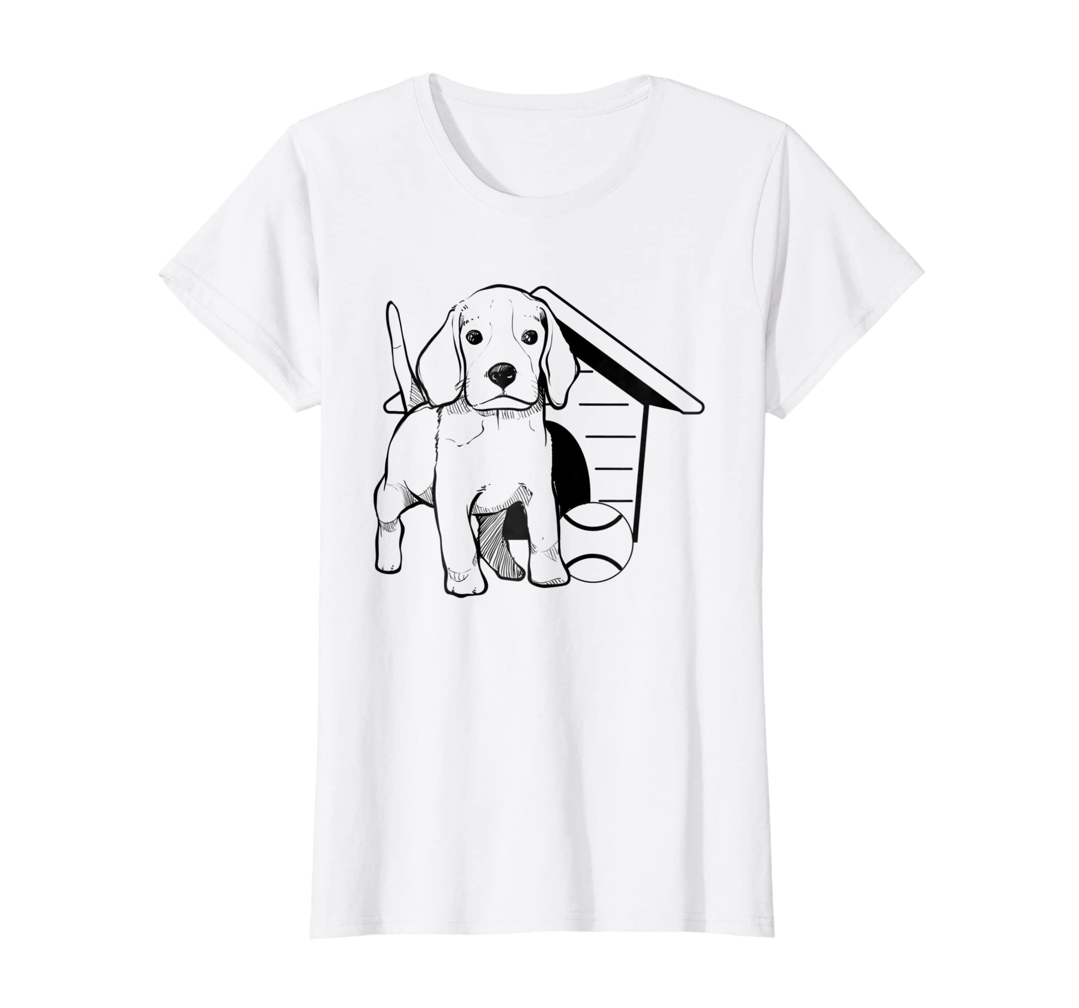 Amazon.com: Coloring T-shirt Puppy Dog Ball Dog House Coloring Gift ...