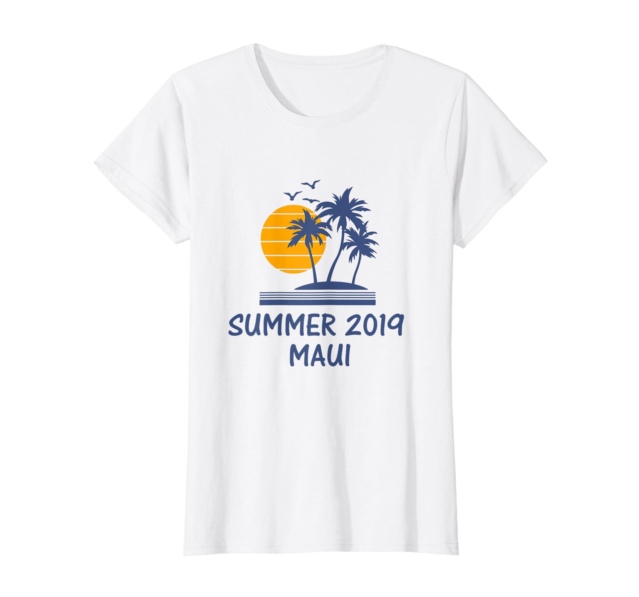 a530a65b45c Amazon.com  Summer Maui Hawaii HI Shirt Trip 2019 Beach Vacation Gift   Clothing