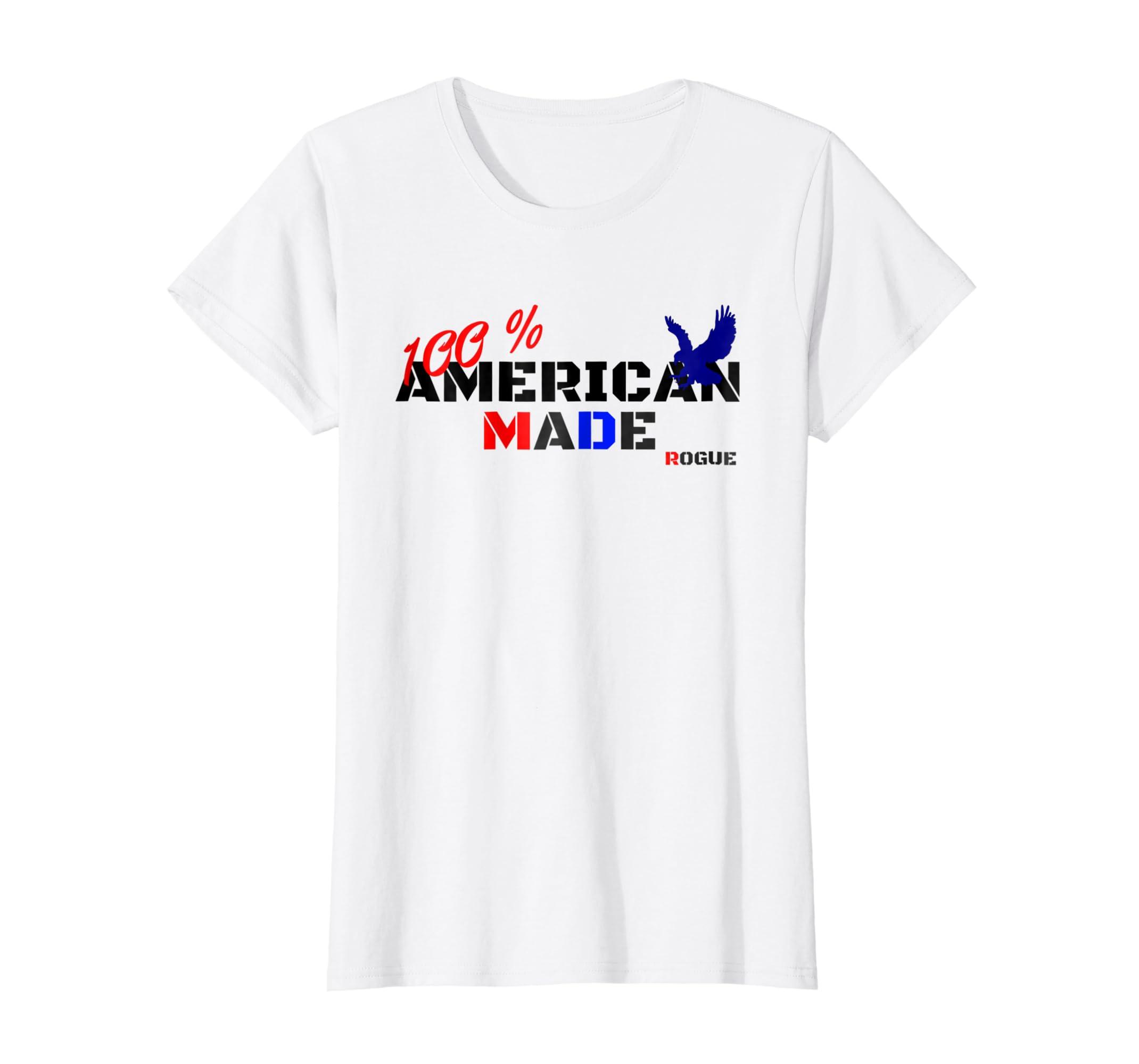 1c96ae576dd5 Amazon.com  Rogue Patriot T Shirt American USA Flag Tshirt Military Tee   Clothing
