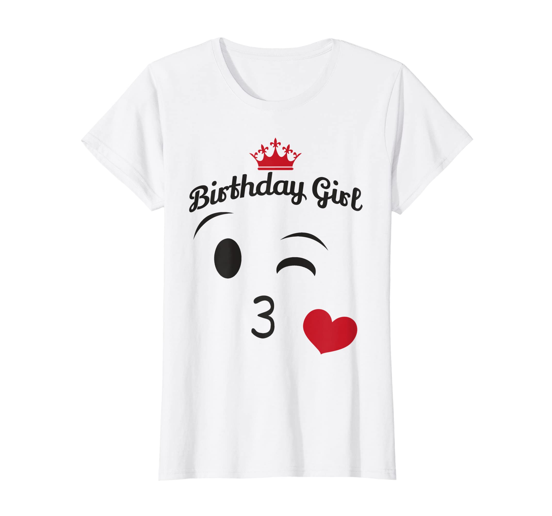 Amazon Emoji Birthday Shirt Girl Wink Heart Kiss Tee Clothing