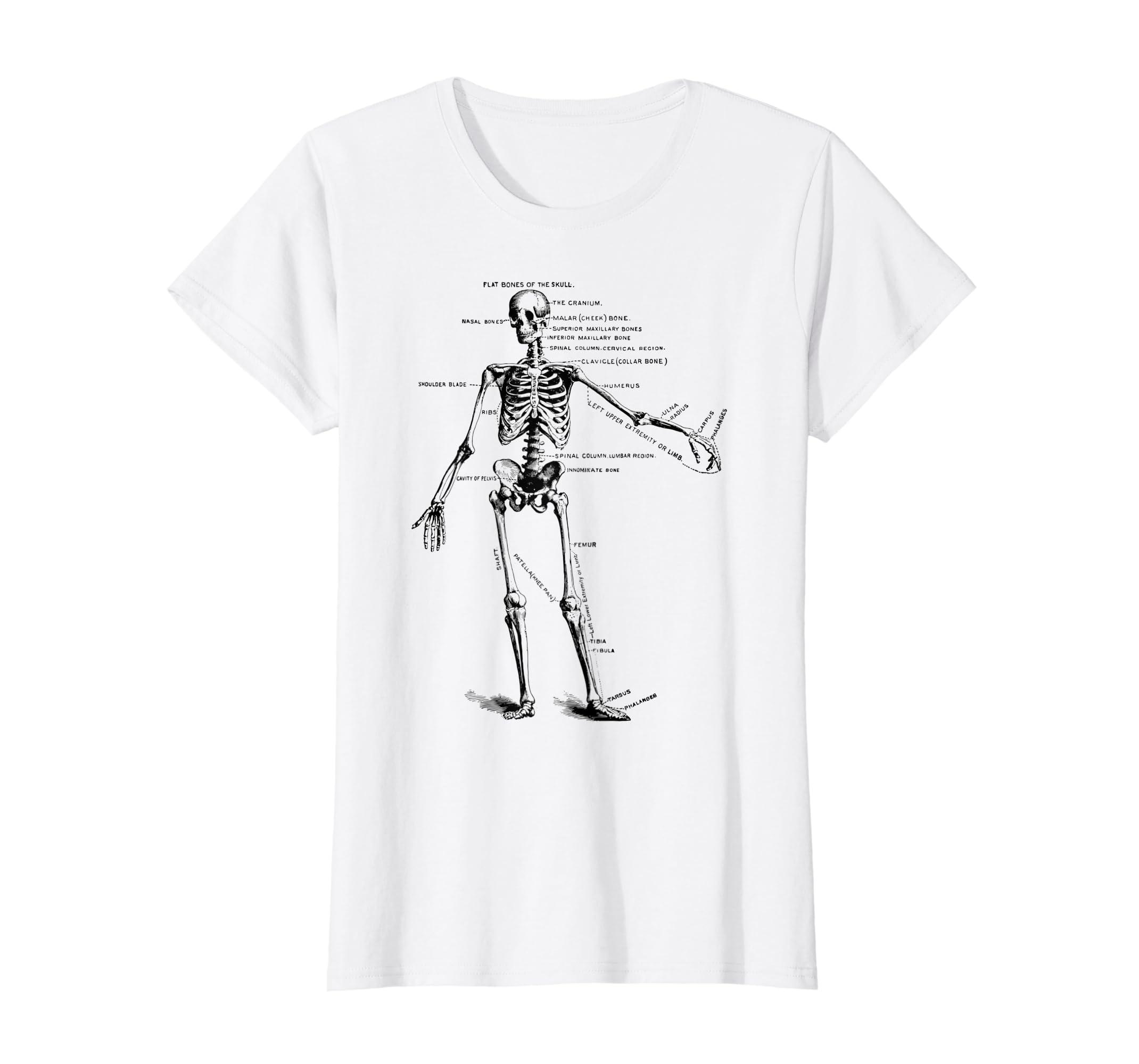 Amazon Human Skeleton Anatomy T Shirt Clothing