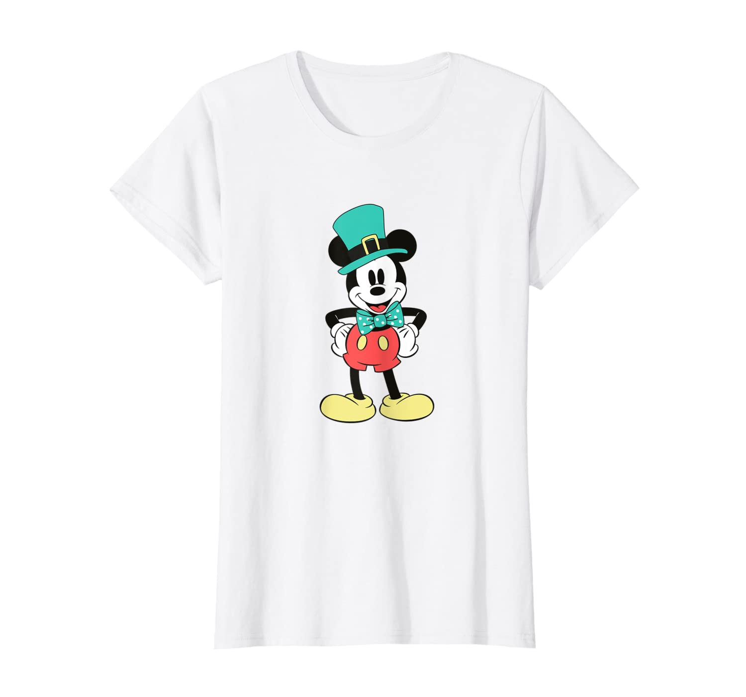 cb6cacd30 Amazon.com: Disney Mickey Mouse Irish Top Hat St. Patrick's Day T-Shirt:  Clothing