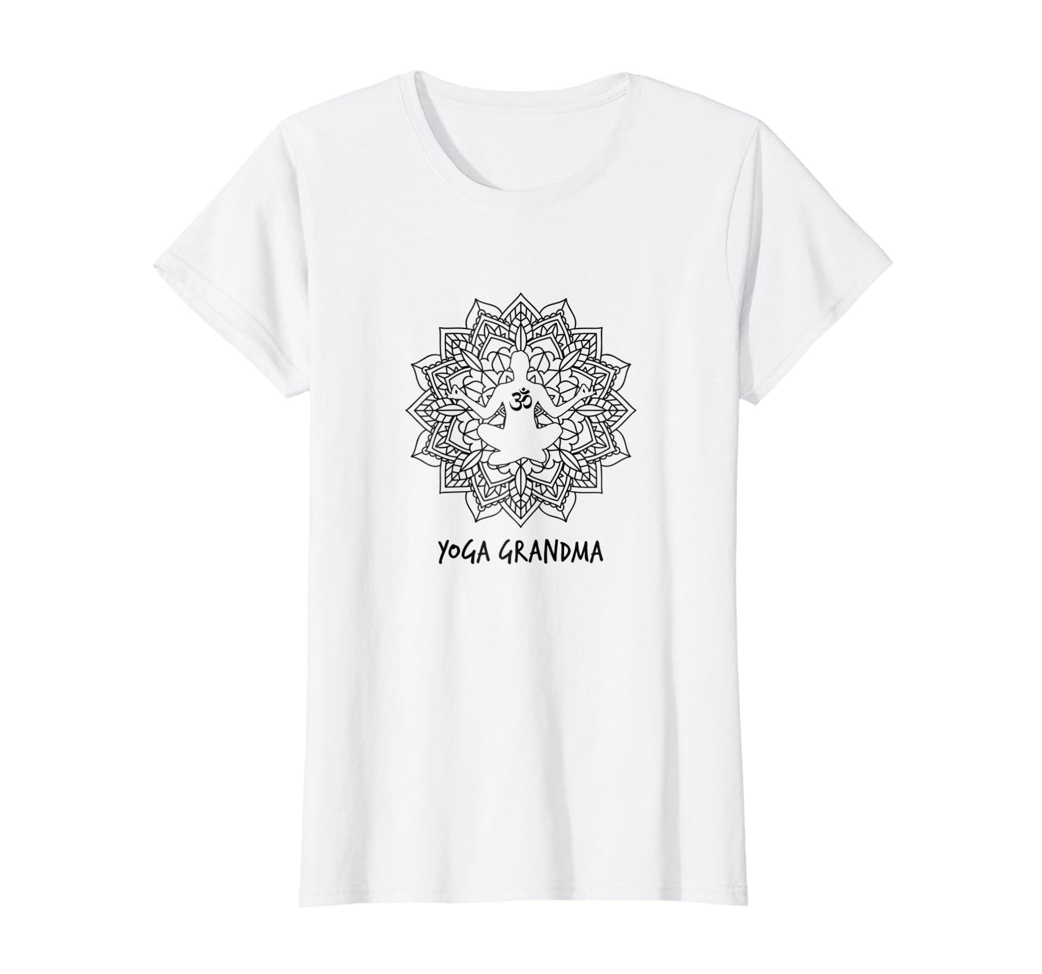 Amazon.com: Womens Yoga Grandma - Funny Yoga Gift T-Shirt ...