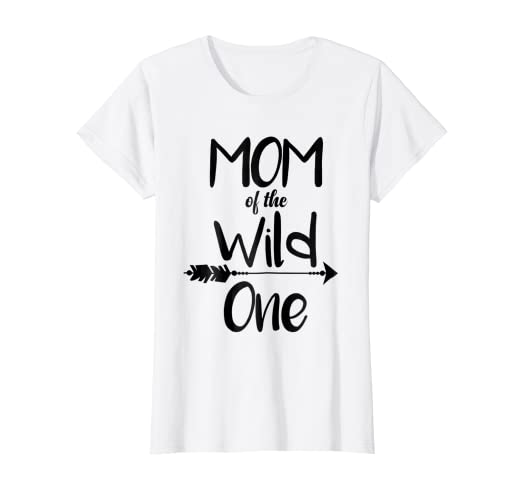 Womens MOM OF THE WILD ONE CUTE 1ST BIRTHDAY BOHO FUNNY SHIRT