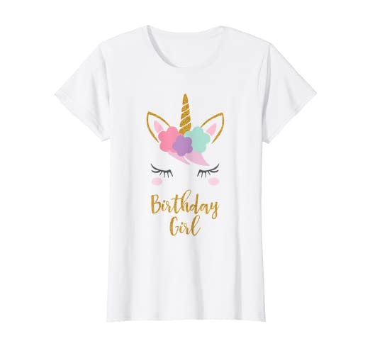 11c58bfe8 Amazon.com: Unicorn Birthday T-Shirt, Unicorn Gift, Birthday Outfit:  Clothing