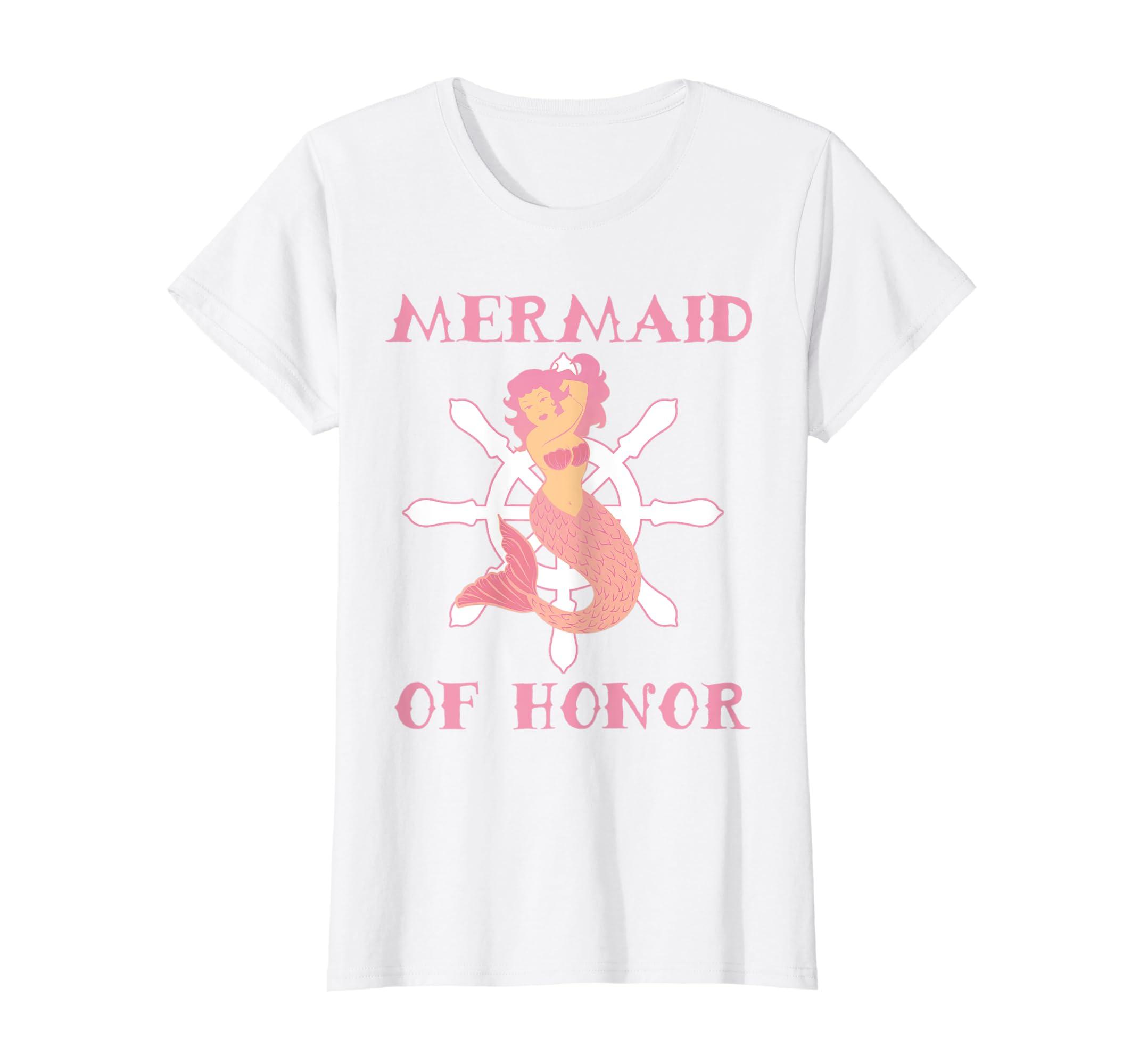 16f35d27 Amazon.com: Mermaid Graphic Tee Women Bridal Party Shirt: Clothing