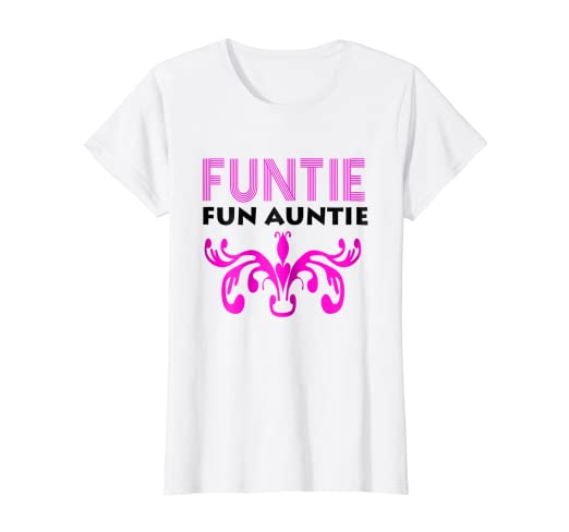 b1005e922d Image Unavailable. Image not available for. Color: Womens Storecastle: Funtie  Fun Auntie Funny Gift T-Shirt