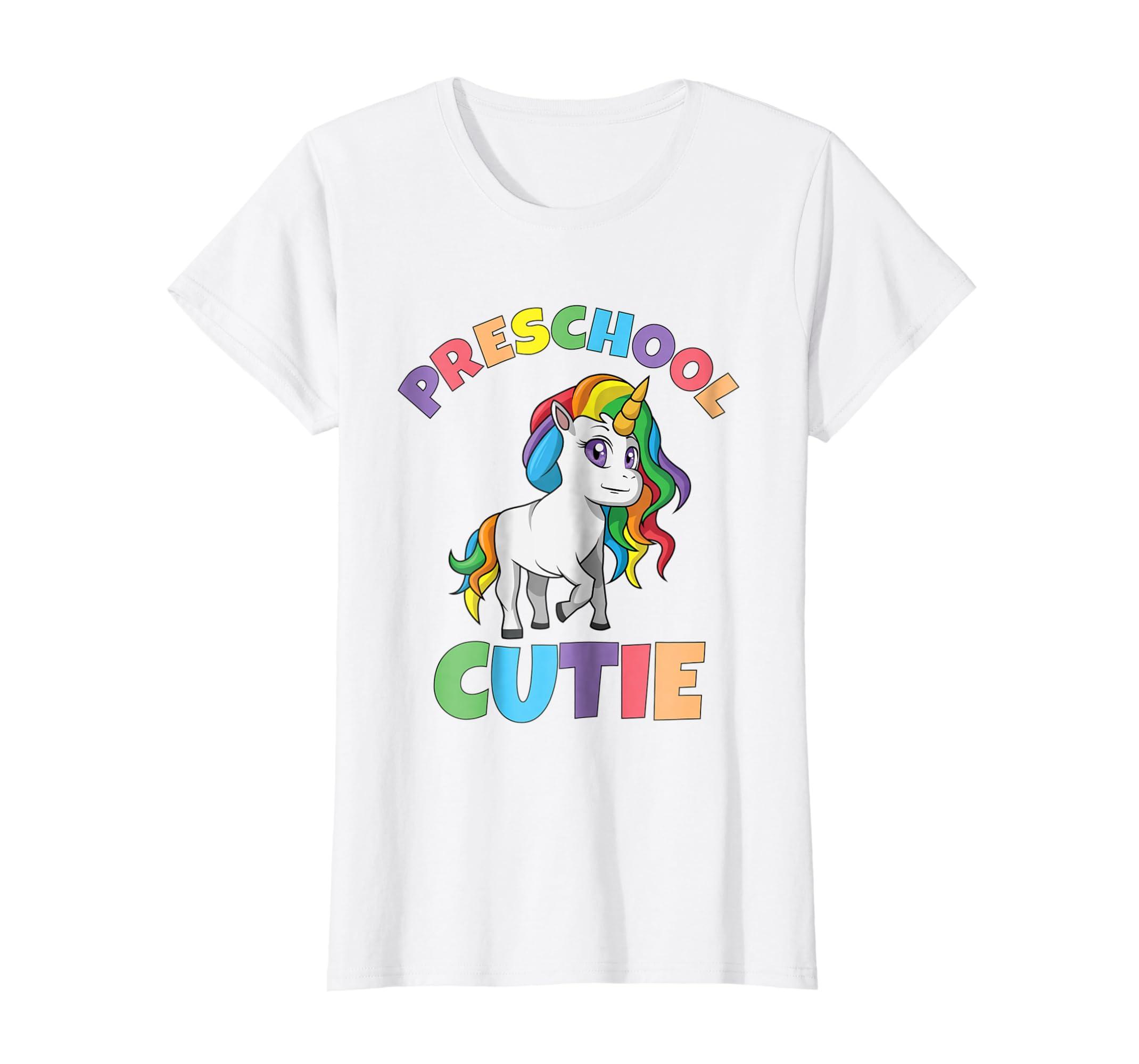 First Day of Preschool Shirt Unicorn Preschool Cutie Tee-Awarplus