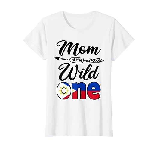 Amazon Womens Filipino Pinoy Mom Of The Wild One Birthday