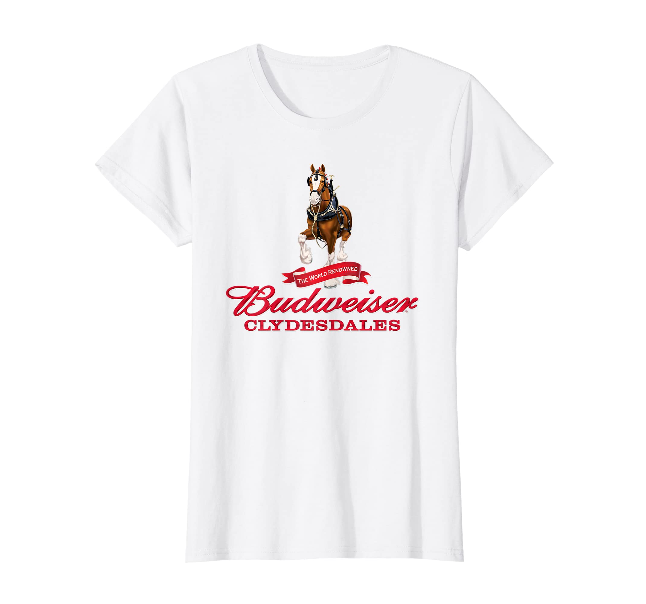 7cd2fa1c Amazon.com: Budweiser 'The World Renowned Clydesdales' T-Shirt: Clothing