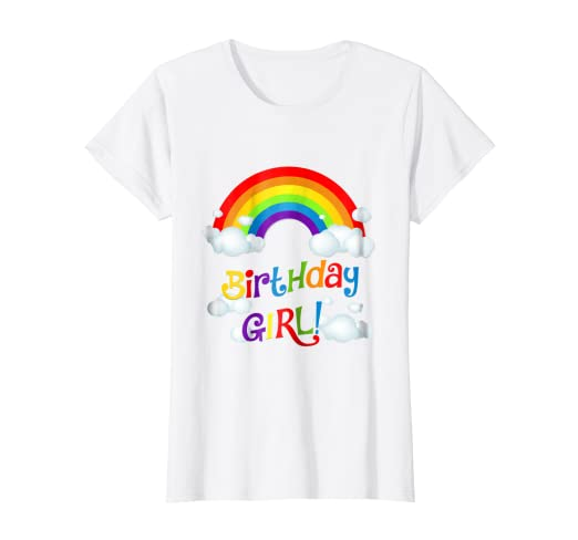 Rainbow Birthday Shirt Outfit Girl Rainbows 1st