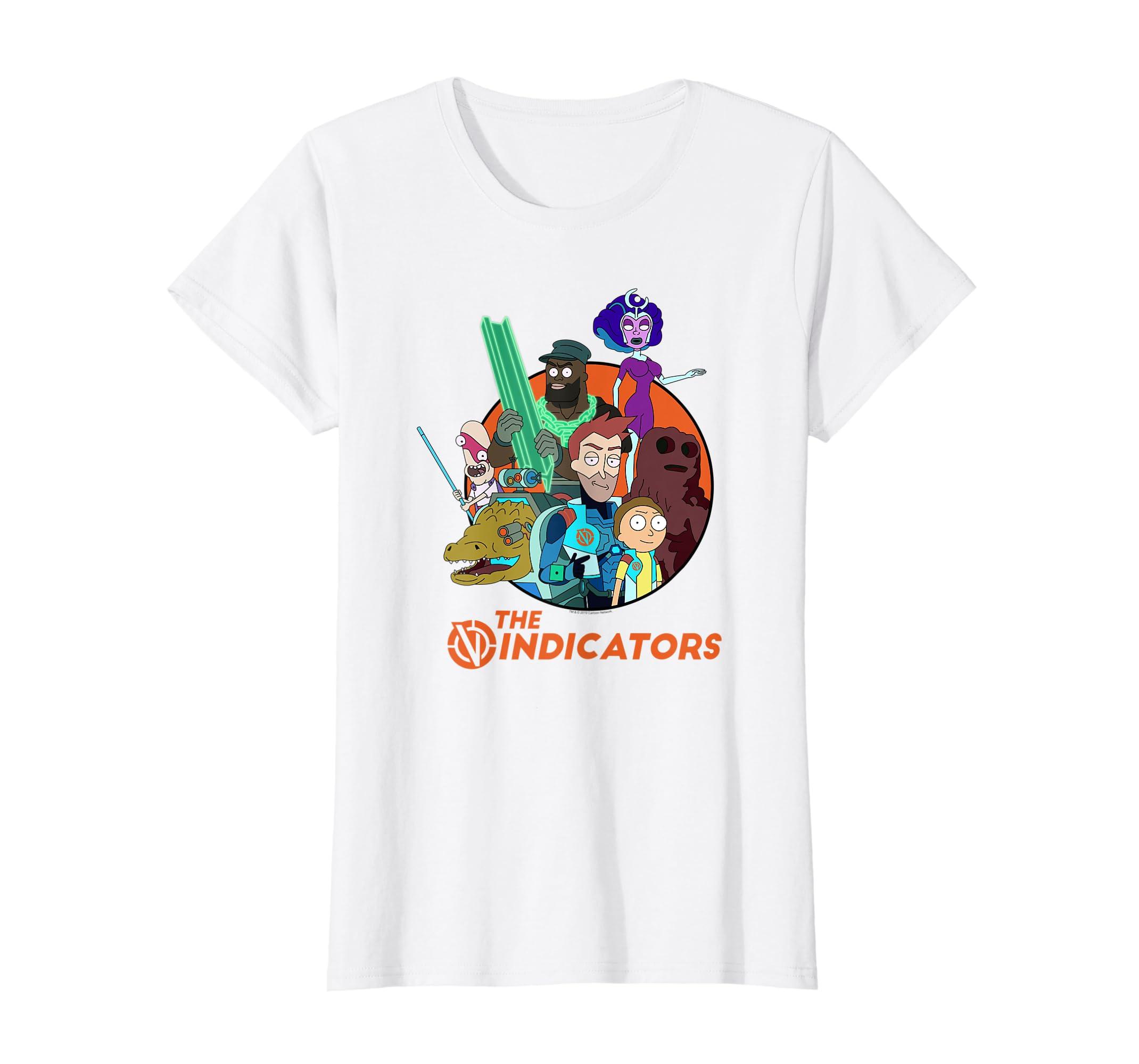 Rick and Morty The Vindicators - Group Shot T-shirt