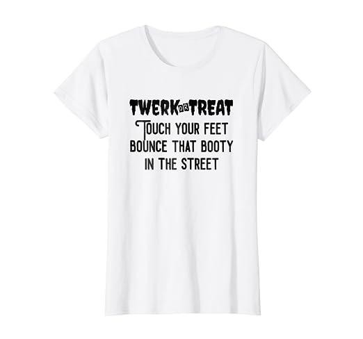 8d9a9dcaa4a3 Amazon.com: Womens Twerk Or Treat Halloween Party SHIRT Halloween ...