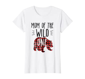 f0e340b351e Image Unavailable. Image not available for. Color  Womens Mom of the Wild  One Shirt Buffalo Plaid Bear Lumberjack 1st