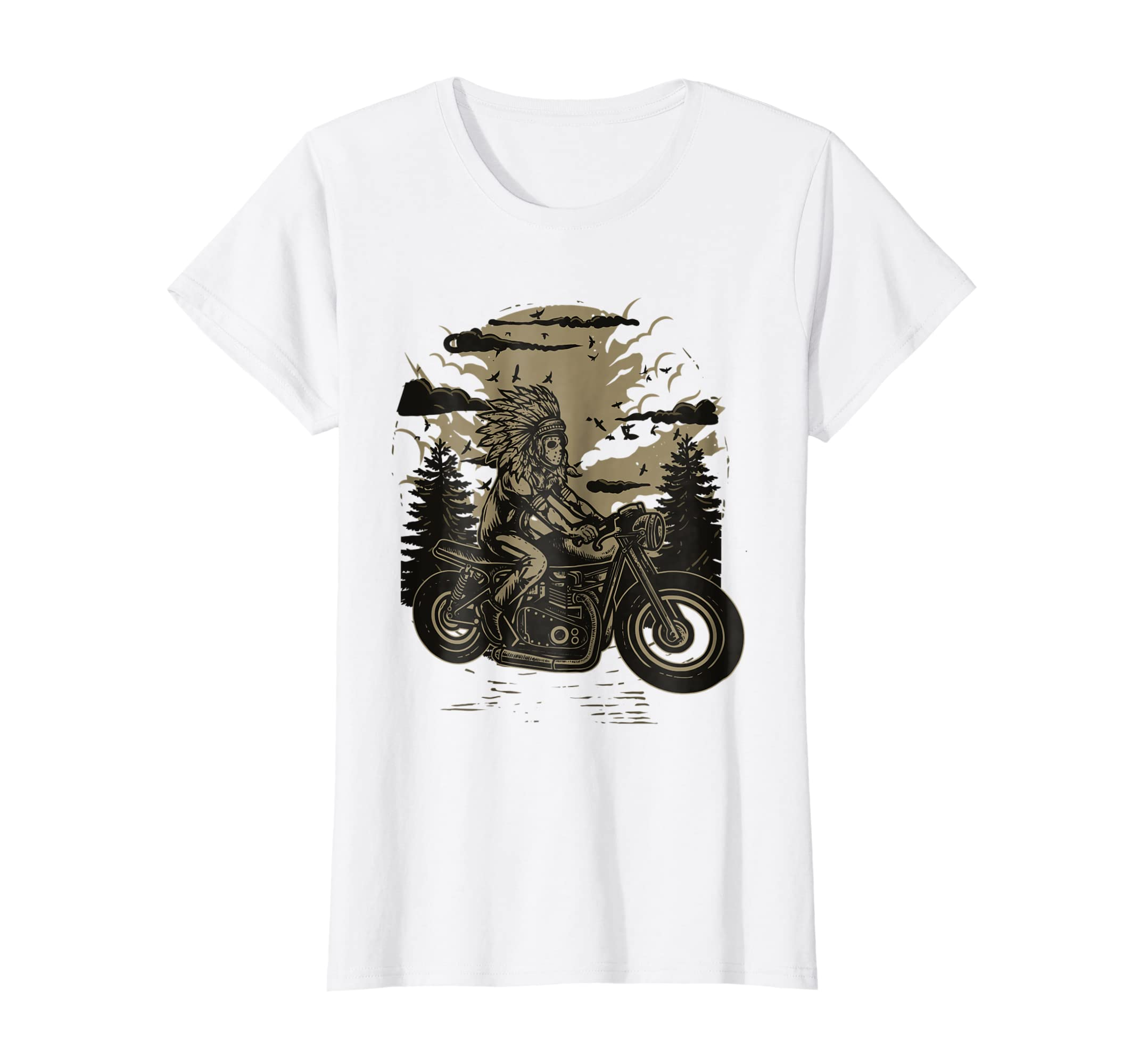 f85bc2db5 Amazon.com: Biker Native American Indian Motorbike Motorcycle T Shirt:  Clothing