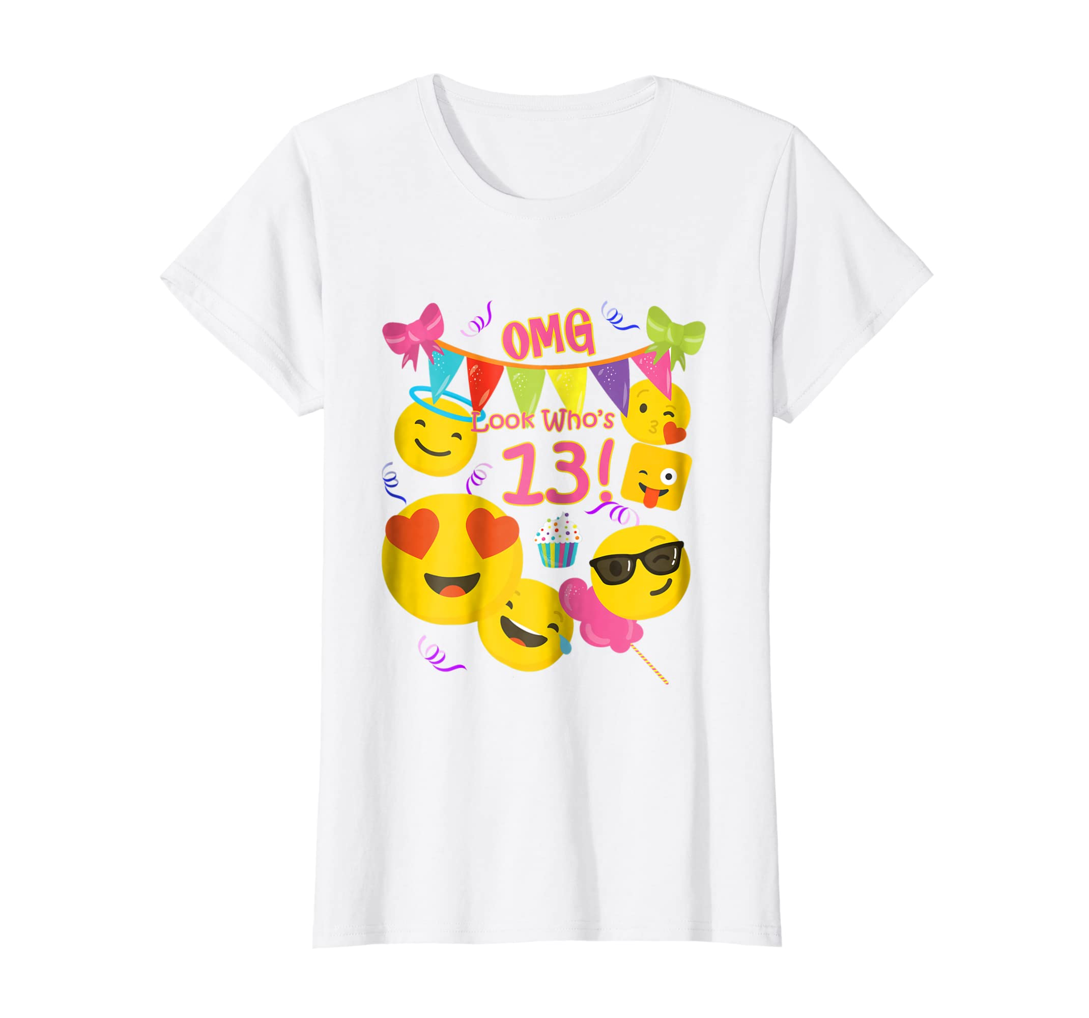 Amazon 13 Year Old Girl Emoji Birthday T Shirt OMG Look Whos Clothing