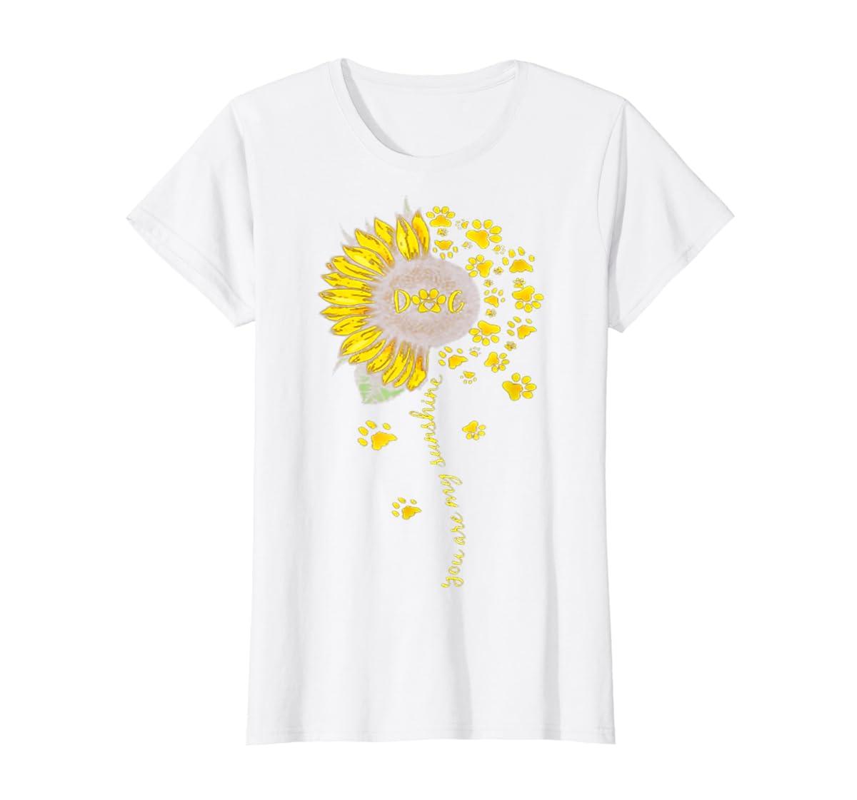 You Are My Sunshine Dog Tshirt-Women's T-Shirt-White