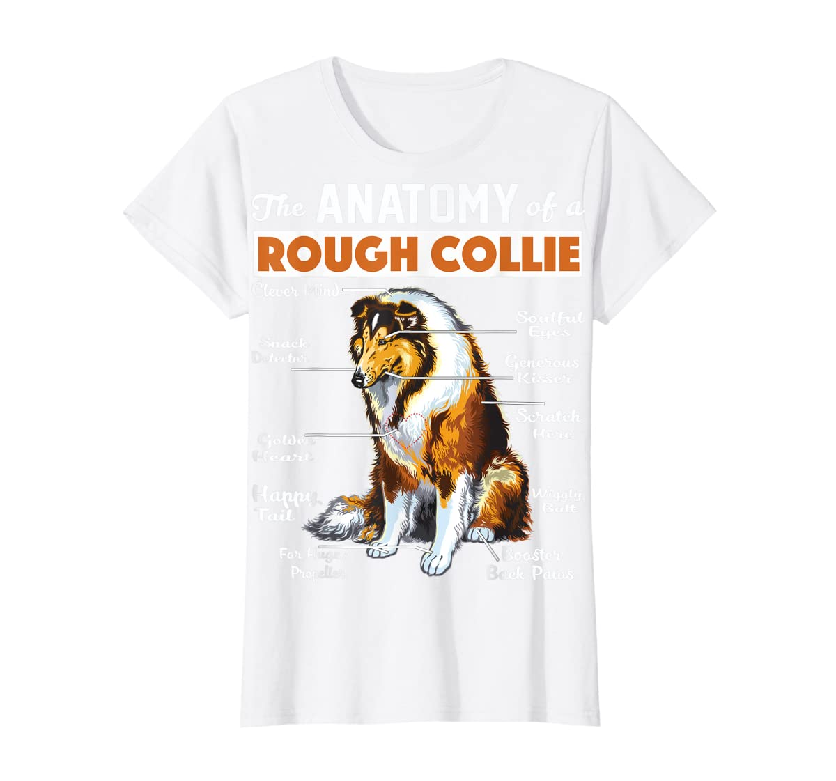 The Anatomy Of A Rough Collie-Women's T-Shirt-White