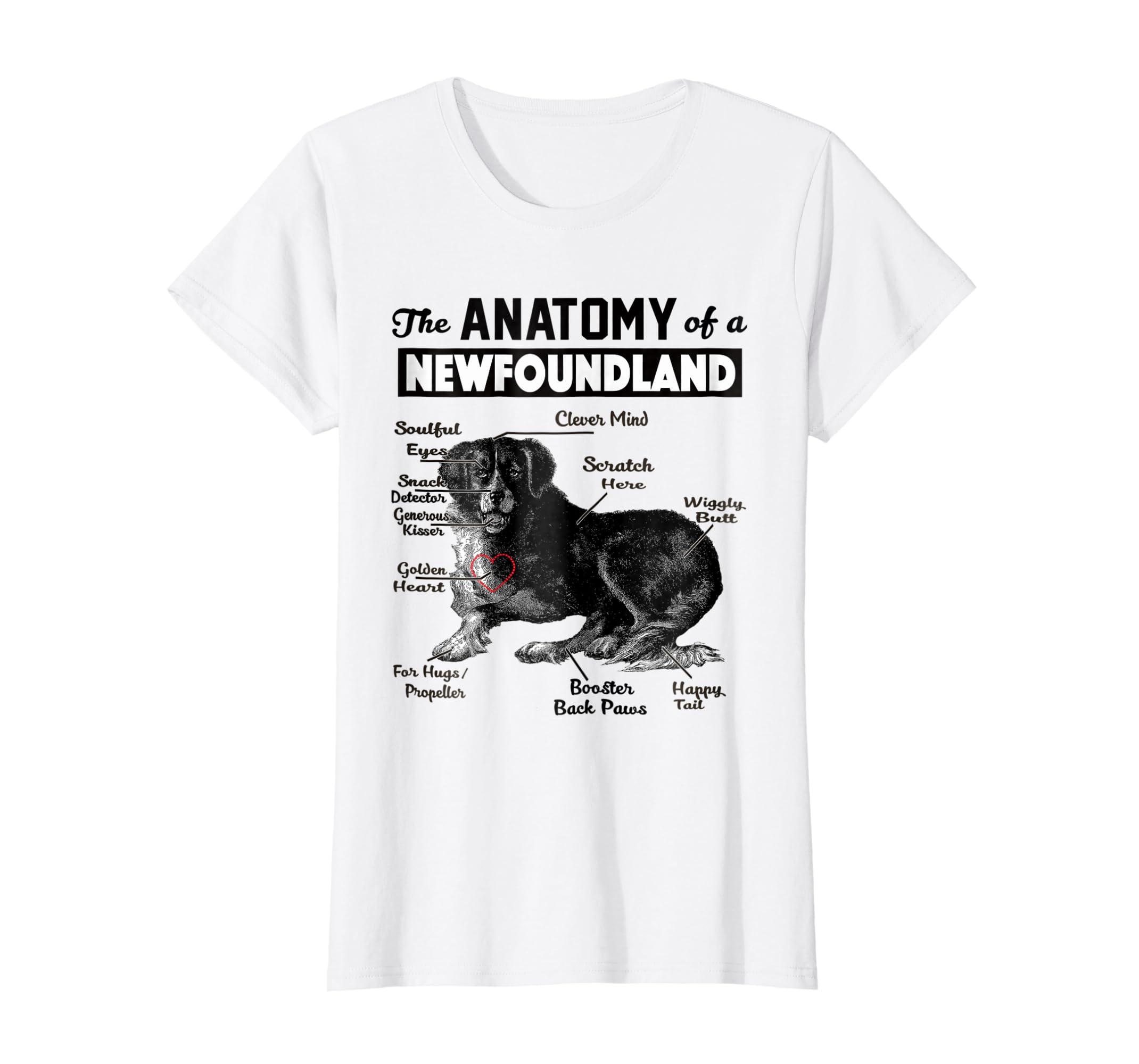 Amazon The Anatomy Of A Newfoundland Dog Shirt Clothing