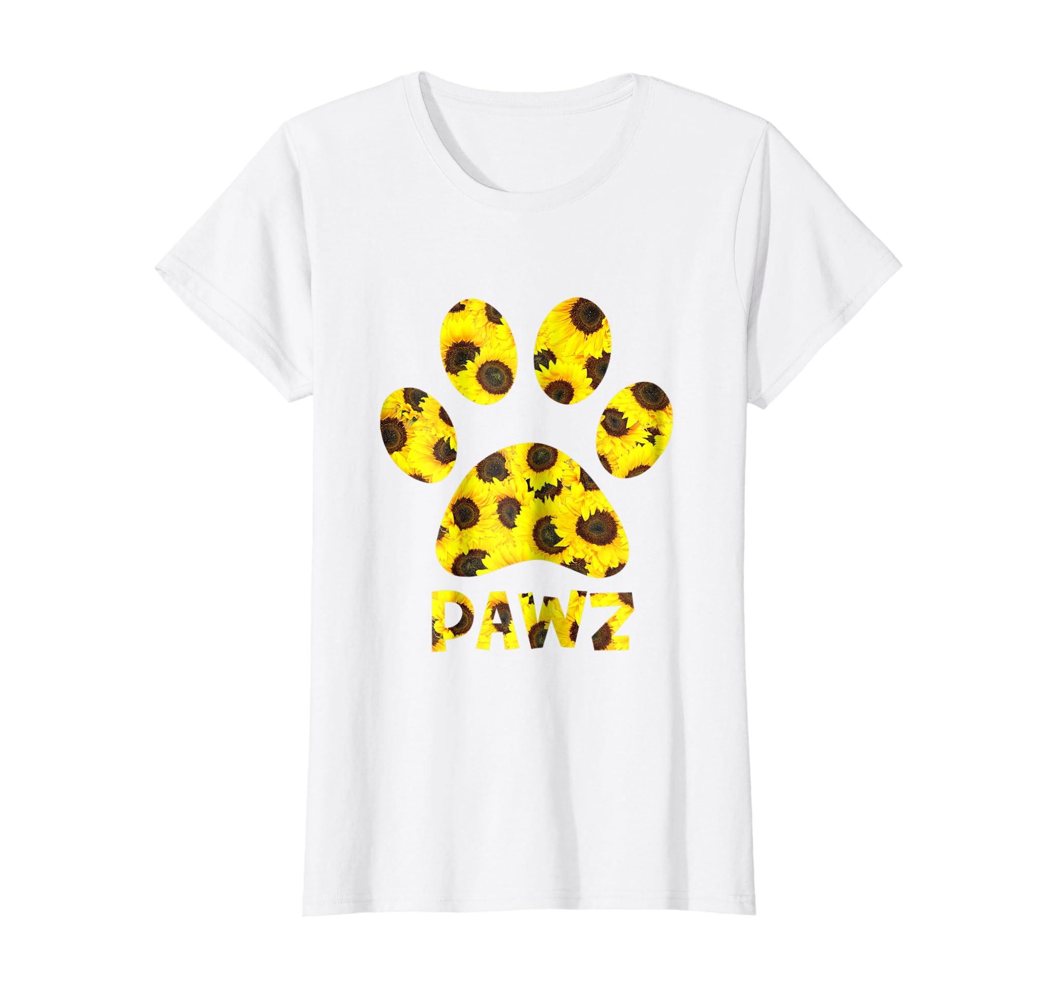 Pawz Sunflower T shirt For Women or Men-Teechatpro