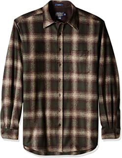 Men's Size Long Sleeve Button Front Tall Lodge Shirt