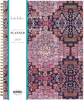 Nicole Miller for Blue Sky 2019 Weekly & Monthly Planner, Flexible Cover, Twin-Wire Binding, 8.5