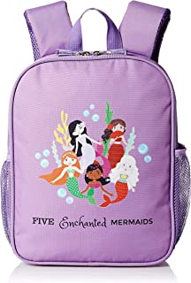Five Enchanted Mermaids Small Preschool Toddler Backpack For Girls – Perfect for Daycare Pre K Travel-Lightweight (Purple)