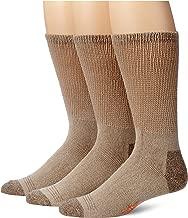 Dockers Men's 3 Pack Cushion Comfort Non Binding Basic Cotton Crew Socks
