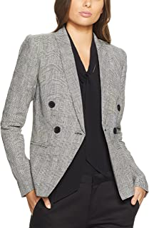 Oxford Women Camilla Check Linen Blazer