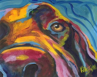 """Chocolate Labrador Retriever Art Print 