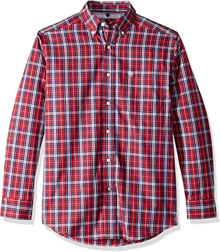 Ariat Hommes's Classic Fit manche longue Button Down Shirt, Safrin Scooter, XXLT