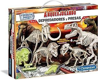 Clementoni Depredadores y presas, Juego con dinosauros (5511